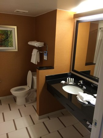 Fairfield Inn & Suites Atlanta Gwinnett Place : Nice Size Bathroom