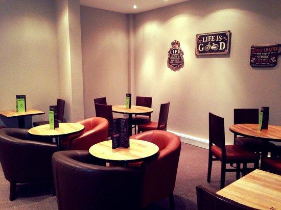 Saporito Coffee: Rear Cafe Area