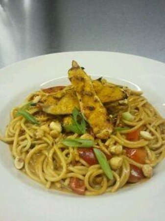 9th St. Grill: Thai Style Chicken Satay with Peanut noodles