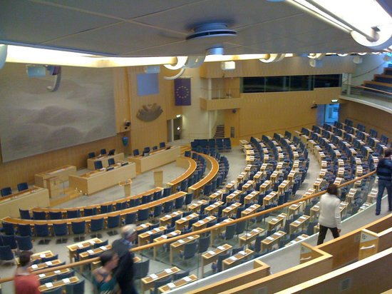 Parliament Building (Riksdagshuset): First stop on the tour!