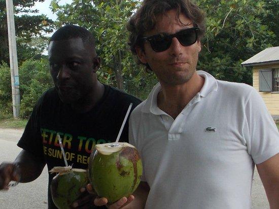 Everald's Jamaica Private Day Tours: il cocco a noi ci piace