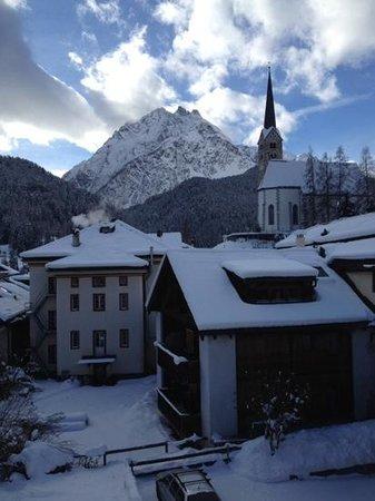 Hotel Conrad Scuol: Blick aus dem Fenster