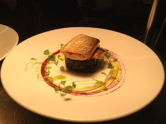 The Fancy Goat: Pan Fried Sea Bass With Crushed New Potatoes And Wilted Spinach.....Delicious