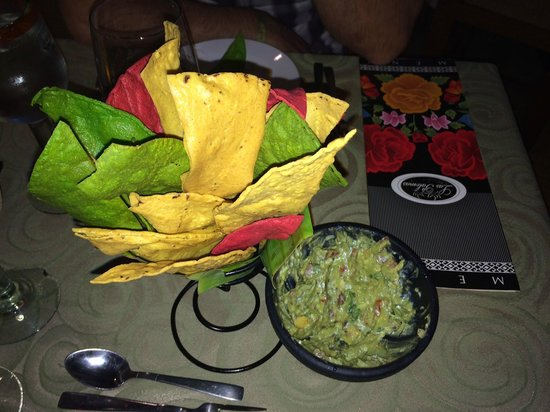 Marival Resort & Suites : Chips and Guacamole made right at your table at Las Palomas