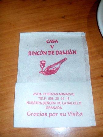 Bar Damian, Granada.
