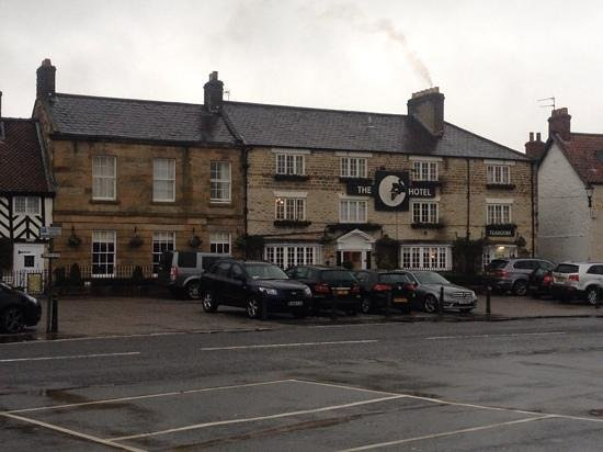 The Black Swan Hotel: a rainy day in Helmsley