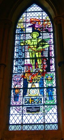 Lincoln Cathedral : bomber command window.