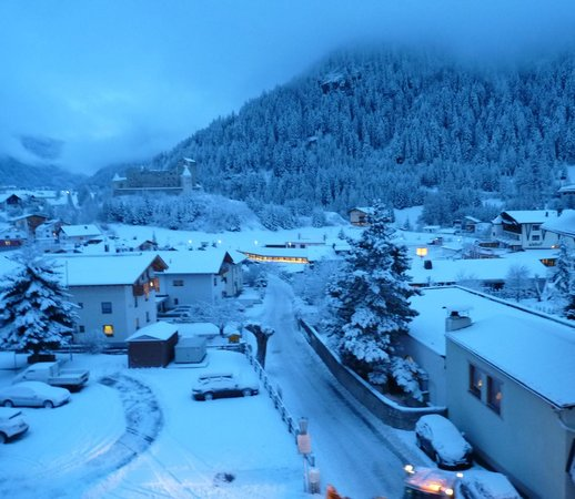 Hotel Margarete Maultasch: the view from our room