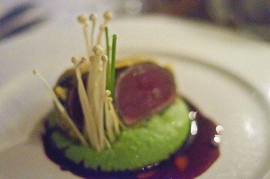 Hergetova Cihelna : Tempura Tuna with Wasabi Mashed Potatoes
