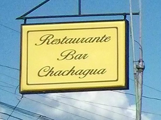 Restaurant ChaChagua: Their sign.