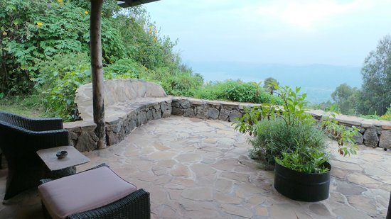 Virunga Lodge: terras
