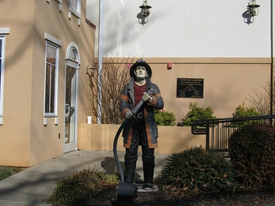 Landis, NC: Firefighter Statue at Fire Station #2