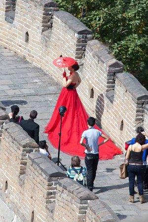 Gran Muralla China en Mutianyu: Wedding Party on the Great Wall