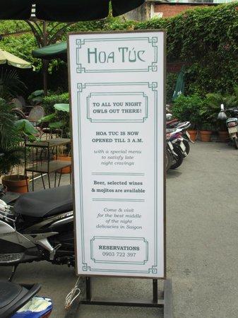 Saigon Cooking Class: Hoa Tuc Sign