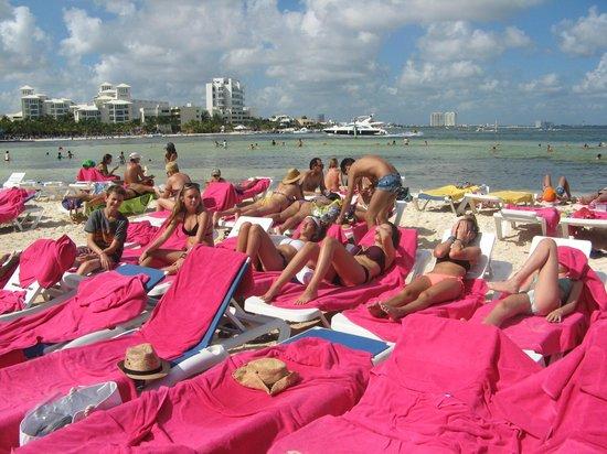Grand Oasis Palm: Beach congestion