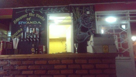Discover Rwanda Youth Hostel : At the restaurant-bar