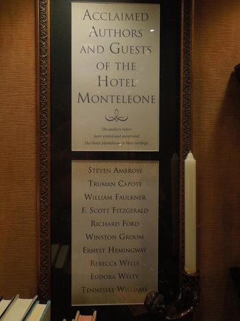 Hotel Monteleone : Famous authors who have stayed at hotel