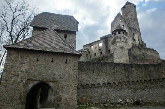 Schloss Hornberg: die Burg von der Rückseite aus gesehen
