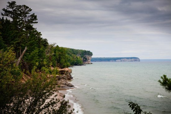 Pictured Rocks National Lakeshore: after a long hike...