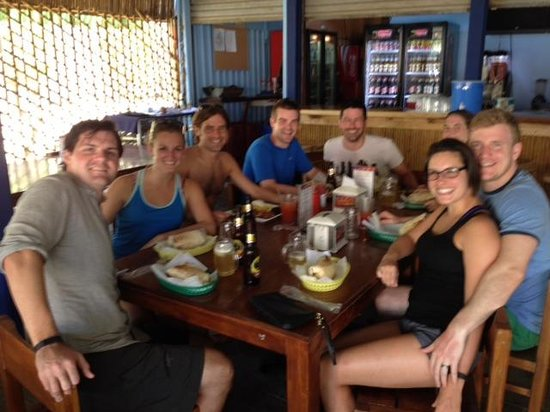 FT's Tamarindo Restaurant: Our group on our last visit to FT's.