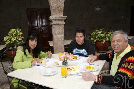 Terra Andina Hotel: Disfrutando del desayuno