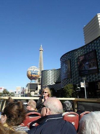 Big Bus Tours Las Vegas: Debbie doing her thing!