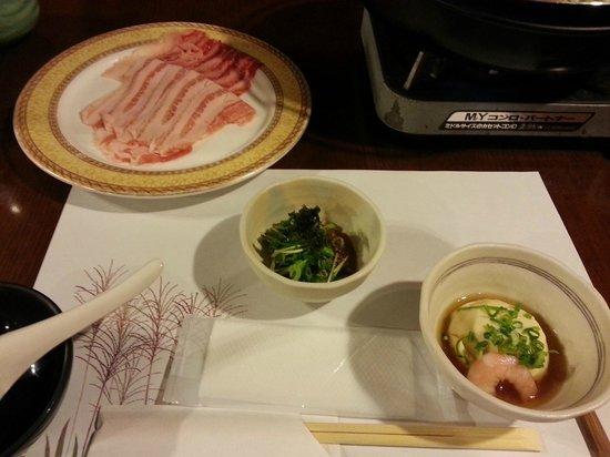 Tonosawa Ichinoyu Shinkan: Part of Hotpot Dinner