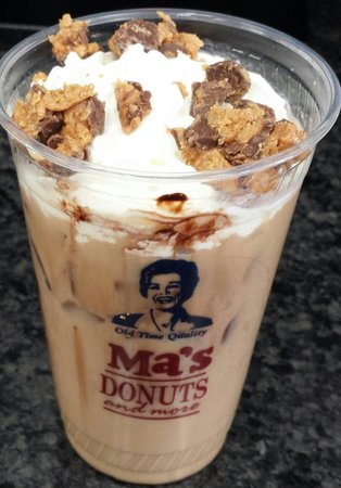 Ma's Donuts & More: REESE'S ICED LATTE