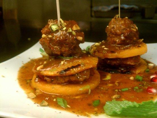 Bha! Bha! Bistro: Lamb Meat balls over butternut squash