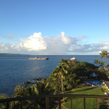 Castle Hilo Hawaiian Hotel: View from the room.