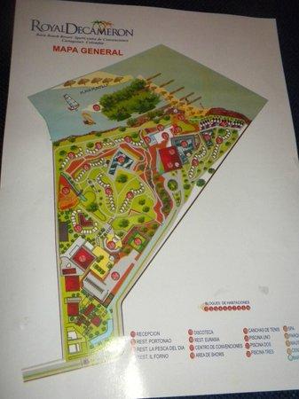 Decameron Barú: Mapa