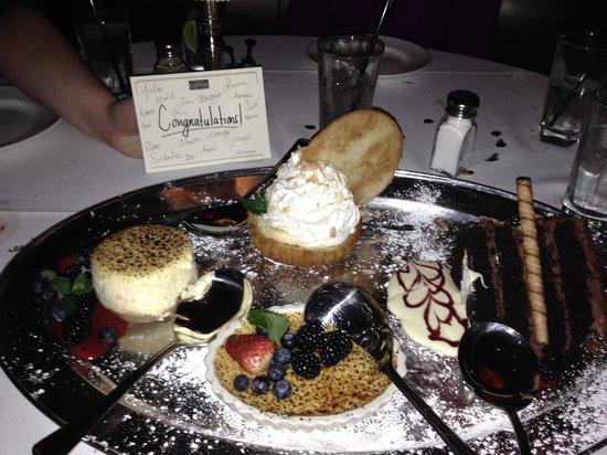 The Capital Grille: Celebratory Dessert Platter