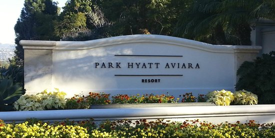 Park Hyatt Aviara Resort: Hotel sign