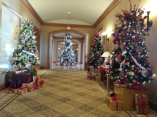 Park Hyatt Aviara Resort: Beautifully decorated for the Christmas holidays