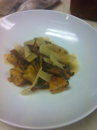 Garibaldi's of Columbia: Pork Sugo with ricotta gnocchi and shaved asiago