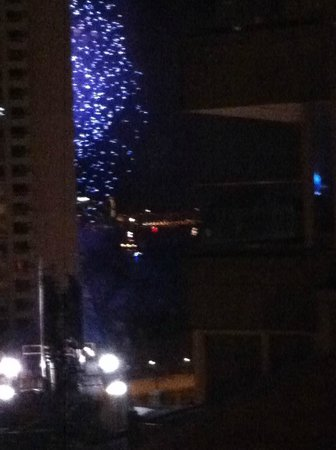 Hilton Boston Downtown / Faneuil Hall : New Year's Eve Fireworks over Harbor from our Room