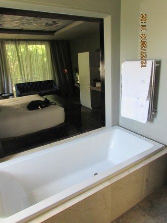 Majeka House: view from bathroom
