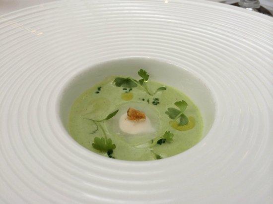 The Modern: broccoli soup