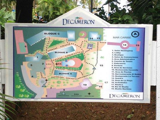 Decameron Marazul: Plano del hotel