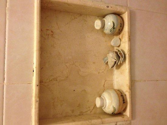 Piedra de Agua Hotel Boutique: El porta condicionar rompido por accidente