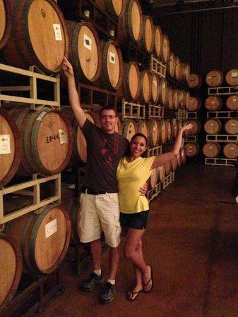 Sunrider Jeep and Wine Tours of Temecula: barrel room