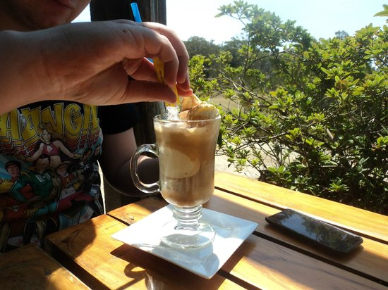 Kate's Berry Farm: My son's Iced Coffee. Very strong