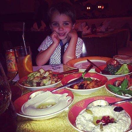 Levantine: My son enjoying his meal