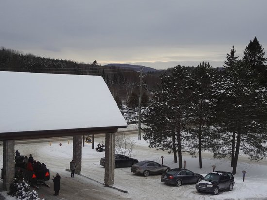 Le Grand Lodge Mont-Tremblant: Lobby rooftop from balcony
