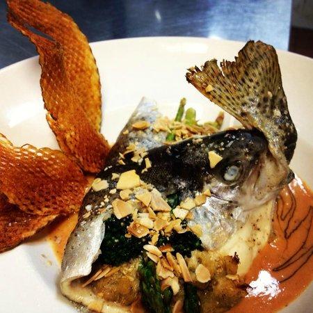 McKinney's Tavern: Asparagus-stuffed Trout