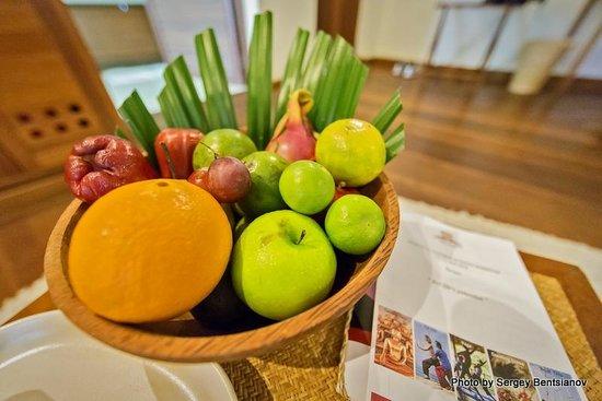 Kamalaya Koh Samui: Всегда свежие фрукты