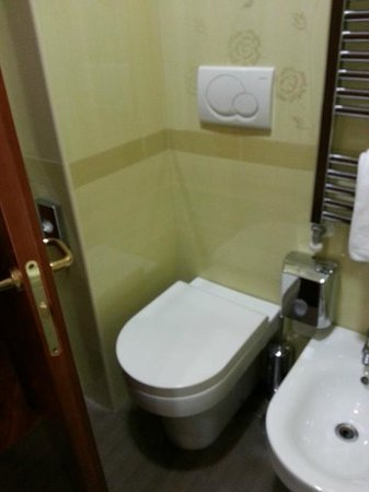 Hotel Serena : note the distance between door and toilet bowl