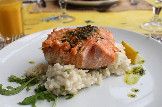 La Bergerie d'Eze: Salmon Risotto