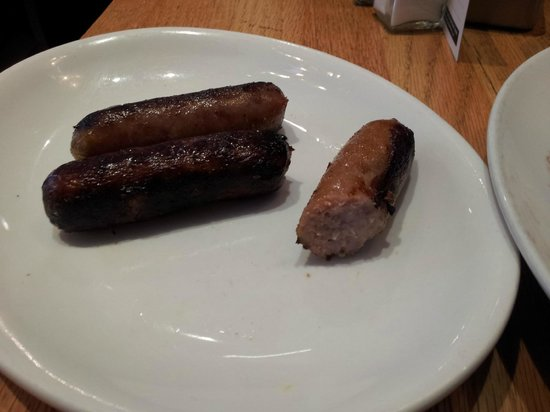 Protein on the side ordered later--sausage links