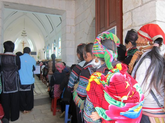 Holy Rosary Church Or the Stone Church : Stone Church congregation, Sapa